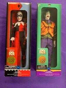 """The Joker & Harley Quinn 14"""" MEGO Figures MIB"""