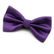 NOEUD PAPILLON Violet foncé en soie mélangée pour homme - Dark purple Bowtie