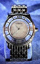 """MEN'S CORUM STAINLESS STEEL"""" MYSTERE"""" QUARTZ WATCH w/STAINLESS STEEL BAND NEW"""