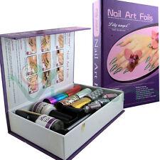 Kit NAIL ART FOIL astuccio decorazioni unghie gel mano decoro unghia manicure