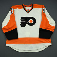 2013-14 Jared Hauf Philadelphia Flyers Game Issued Reebok Hockey Jersey NHL