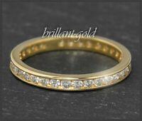 Diamant Damen Ring, 1ct Brillanten, aus 585 Gold, Memory / Eternity Bandring