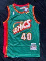 Shawn Kemp Seattle Super Sonics Throwback Swingman Jersey Red NBA