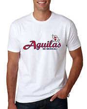 Baseball Men's T-Shirt Aguilas de Mexicali Color White 100% Cotton