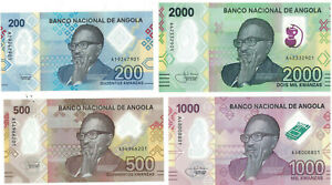 Angola 200, 500, 1000, 2000 Kwanzas, Polymer, new issue 2020; UNC