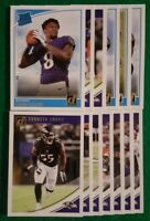 2018 Donruss Baltimore Ravens Team Set. Lamar Jackson RC. 13 Cards