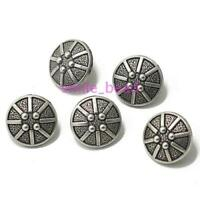 10pcs 23mm Carved Metal Round Buttons Sewing Scrapbook Jacket Blazer Crafts DIY