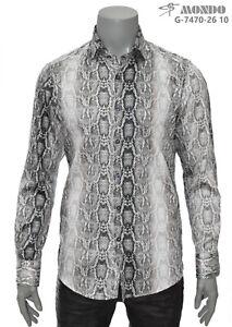 Mondo Men's Italian fashion long sleeves Snake patern Multicolor large size