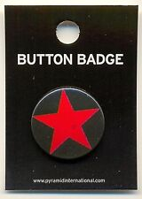 Red Star Symbol 25mm Button Badge Pin Carded