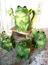 Fun Ceramic Frog Tea Set 8 Piece set