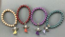 Childrens Angel Bracelets - 4 bracelets- red, yellow, purple and green