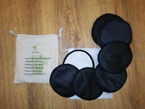 Greenbabiesuk 12 x Washable Black Breast Pads Bamboo Reusable Breastfeeding Pad