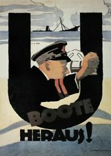 U Boote Heraus! (U-Boats Launch!), German WW1 Propaganda Poster