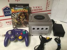 Gamecube Limited Edition Platinum Silver Console Complete Bundle +1 Game Tested!
