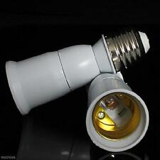 White E27 to E27 Extend Socket Base LED Light Bulb Lamp Holder Adapter Converter
