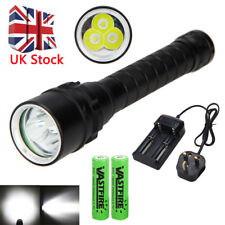 Underwater 120M 10000Lm 3X XM-L T6 LED Diving Scuba Flashlight Torch 18650 Lamp