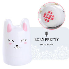 3Pcs/set Nail Art Stamper Lovely Bunny Silicone Head w/ 2 BORN PRETTY Scrapers