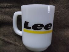 Old Lee Way Trucking Milk Glass Fire King Coffee Mug Anchor Hocking Oven-Proof