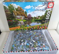 Educa 6000 Piece Jigsaw Puzzle Lakeside Cottage 100% Complete