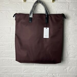 Brand New Reiss Oversized Tote Bag Burgundy Holdall Smart Casual Travel Holiday