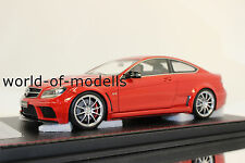 FrontiArt f035-06 MERCEDES BENZ c63 AMG Coupe Rosso 1:18 NUOVO con OVP