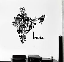 Wall Decal India Elephant Country Symbol Sanskrit Vinyl Stickers (ig2722)