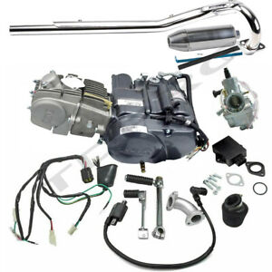 Lifan 150cc Engine Motor Exhaust Kit fo Pit Bike Honda Trail CT70 CT90 Z50 CT110
