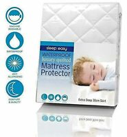 Waterproof Microfibre Quilted Mattress Protector Bed Cover Single Double King