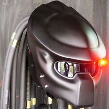 PRO PREDATOR CASCO MATT BLACK MOTORCYCLE HELMET CUSTOM ELECTRIC LAMP MOTO