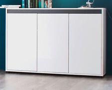 Sideboard weiß Hochglanz Lack und grau Wohnzimmer Kommode Esszimmer Anrichte Sol
