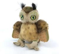 Steiff Wittie Owl Mohair Plush 10cm 4in 1960s Swivel Head no ID Vintage