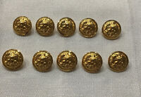 US Navy Brass Eagle and Anchor Buttons Vintage NOS Waterbury Co. Conn lot of 10