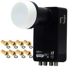 Inverto Black Ultra DIGITAL Quattro LNB für HDTV 3D Full HD 8x F-Stecker Gratis