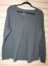 NEW WOMENS PLUS SIZE 1X OLD NAVY GRAY GREY RELAXED BOYFRIEND TEE T SHIRT TOP