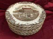 """Staffordshire's """"Heritage Hall"""" French Prov.~12 10"""" Georgian Town House Plates"""