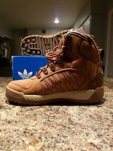 Adidas Winter Ball Brown PrimaLoft Sneaker Boots Men Size 6