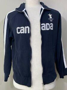 Elevate Mens Navy Blue Canada Olympics Vancouver 2010 Full Zip Fleece Jacket S