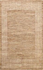 Contemporary Geometric Gabbeh Kashkoli Oriental Area Rug Hand-knotted WOOL 6x9