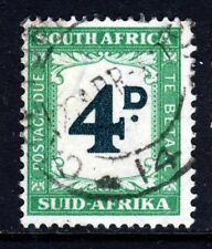 SOUTH AFRICA 1958 POSTAGE DUE 4d. Myrtle-Green & Emerald Perf 15 x 14 SG D42 VFU