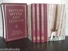 Ancient Britain MYTHS & LEGENDS Beowulf KING ARTHUR FOLIO SOCIETY 3 Vol Set ills