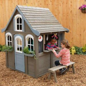 Kidkraft Forrestview II Wooden Playhouse Play Set Outdoor Toy