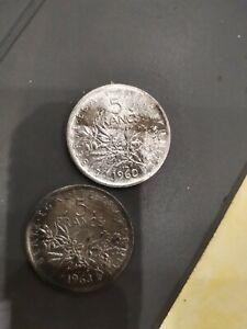piece 5 francs argent semeuse