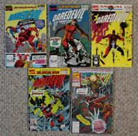 DAREDEVIL ANNUAL  #5(1989; Mis-numbered as #4), 6,7,8,9(1993) VF
