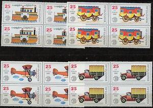 Bulgarien 3724 - 3727 ,1988, Postgeschichte 4-er Block xx #n605