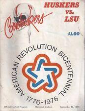 Football Program Nebraska Cornhuskers v. LSU 9/13/75