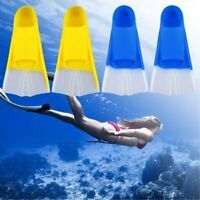 Swimming Snorkeling Training Short Blade Silicone Fins Diving Swim Flippers MY