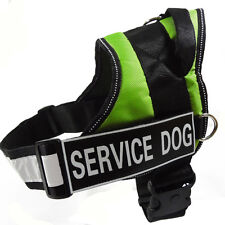 Reflective Training Service Dog Vest Harness Padded Removable Patches