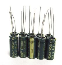 1800uF 6.3V (10x) Electrolytic Capacitors 6.3V 1800uF Volume 8x20 mm 1800uF 6.3V