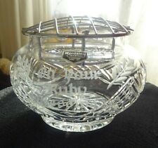 Vintage Wordsley Stourbridge crystal glass rose bowl ON YOUR RUBY WEDDING
