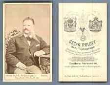 O. Roloff, Berlin Un homme  vintage carte de visite, CDV  CDV, tirage albuminé